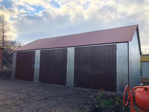 garaż MAGAZYN blaszany HALA WIATA blaszak konstrukcja stalowa hale