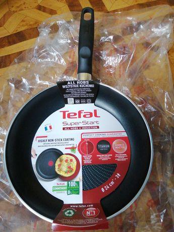 Nowa patelnia Tefal super start 24cm tytan nieprzywierająca