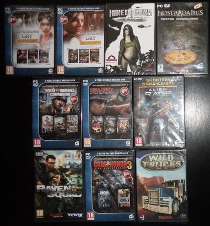 Gry komputerowe PC 13szt dvd stare retro, folia,CI games,TopWare,nowe