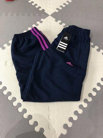 Okazja! Nowe oryginalne spodnie ocieplane adidas r.140 granat