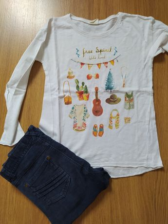 Conjunto blusa Zara 7 anos e calças Zippy 7/8 anos