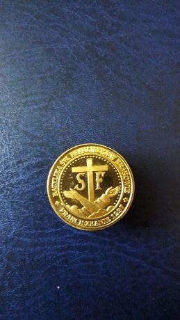 Medal z serii Złota Polska z bazyliki św. Franciszka w Krakowie
