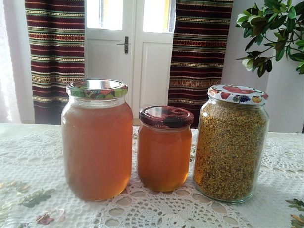 Карпатський натуральний мед та пилок з різнотрав'я