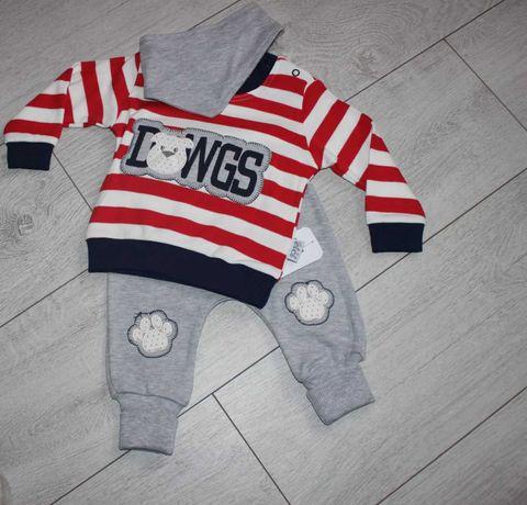 Nowy Śliczny Komplet niemowlęcy Dresik chłopięcy