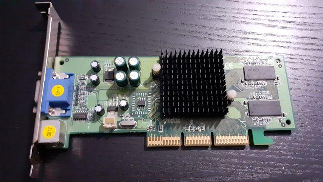 Placa gráfica AGP antiga Geforce 4 MX 480 de 64 Mb