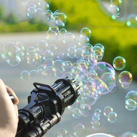 Игрушка-генератор пулемёт для мыльных пузырей Bubble Gun Blaster