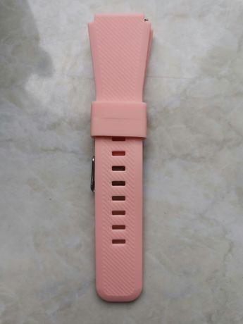 Pasek silikonowy 22mm smartwatch rozowy