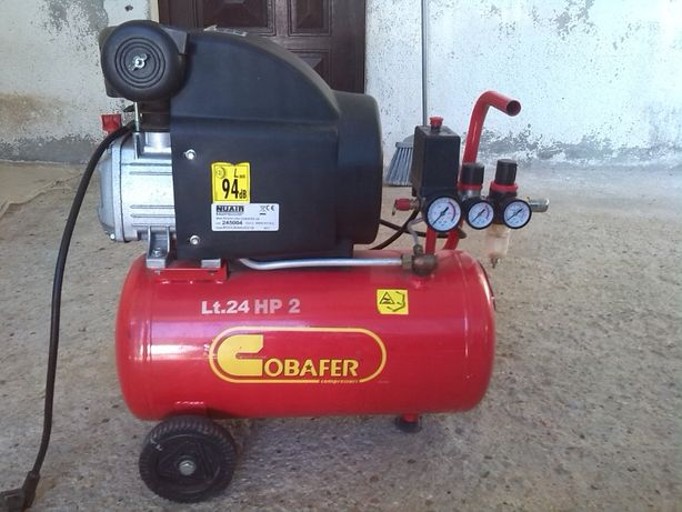 Compressor de ar 24 L mais kit de acessórios