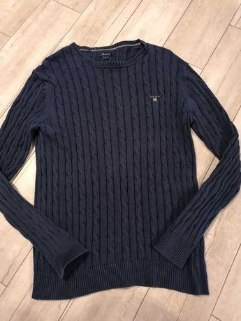Sweter Gant granatowy L