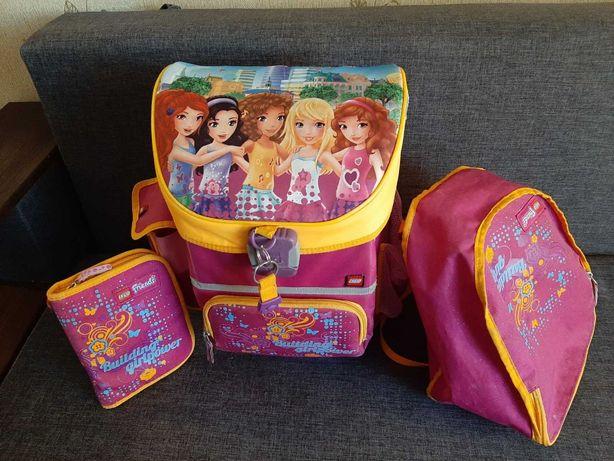 Рюкзак школьный для девочки - тройка (рюкзак, спортивная сумка, пенал)