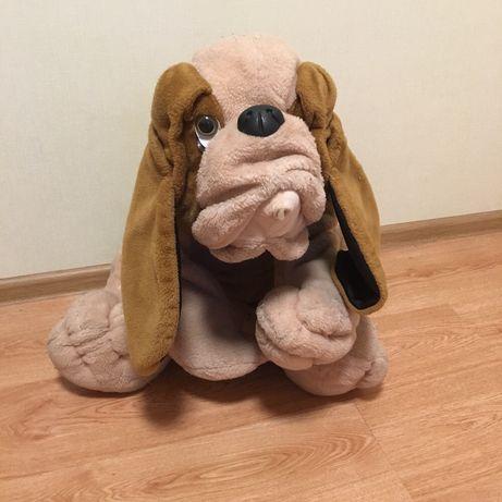 Большая Детская игрушка мягкая собака