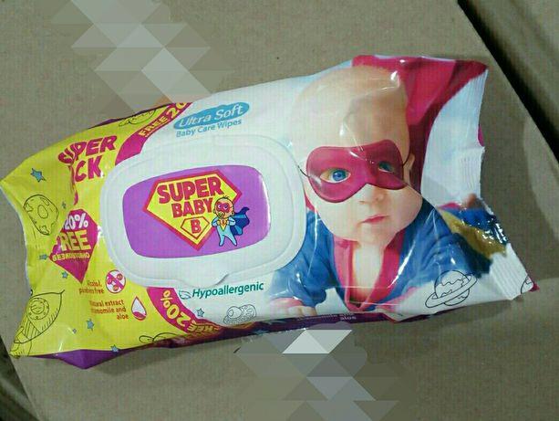Серветки вологі дитячі, гіпоалергенні по 120 шт., 60 шт. в упаковці
