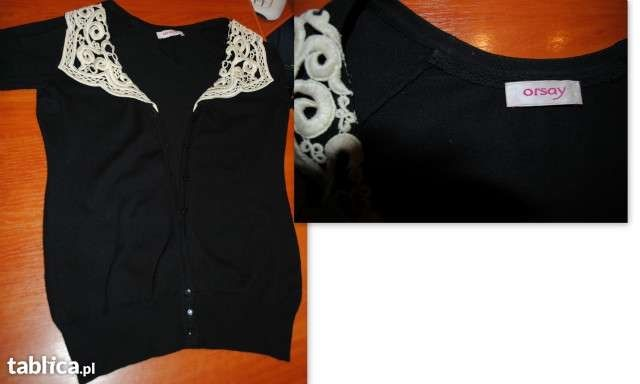 Sweterek Orsay rozm.XS/S długi sweter,biustonosze/kąpielówki ADIDAS