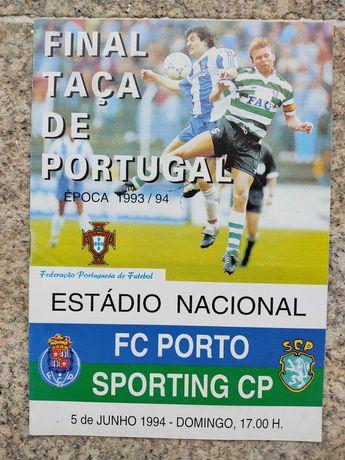 Programas/revistas Taça Portugal Sporting-FC Porto