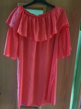 Piekna nowa sukienka malinowa hiszpanka rozm.uniwersalny