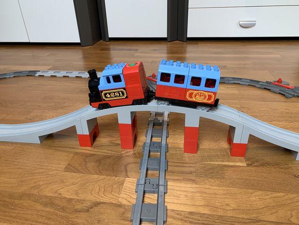 Lego duplo mój pierwszy pociąg plus tory i most, wiadukt bdb stan