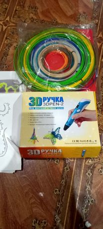 3D ручка,пластик ,трафареты,досточка