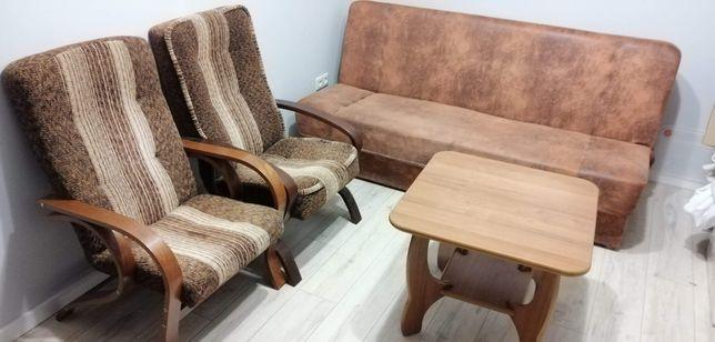Zestaw mebli kanapa sofa fotel komoda stolik rtv