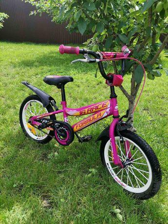 "Велосипед Formula Race 16"" на от 3 до 5 лет розово-оранжевый"