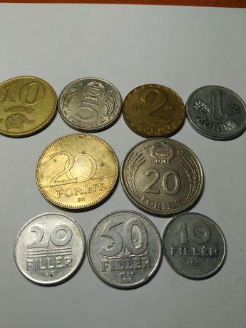 Монеты Венгрии 1,2,5,10,20 форентов