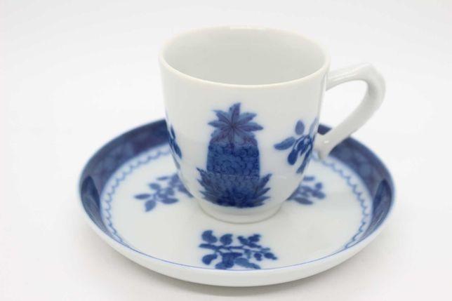 Chávena de Café Vista Alegre Coleção BLUE PINEAPPLE Mottahedeh 1971