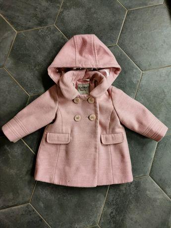 Płaszcz płaszczyk dla dziewczynki pudrowy róż Next