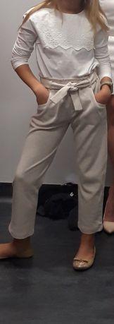 Cieple  Spodnie firmy Zara 134 9 lat