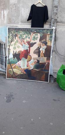 "Продам картину ""девушка собирает виноград"""