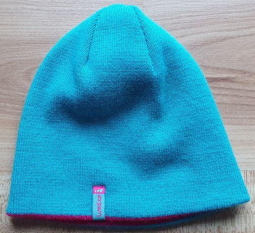 Bardzo ciepła czapka dwustronna dziewczęca, 10-12 lat, marka: Wedze