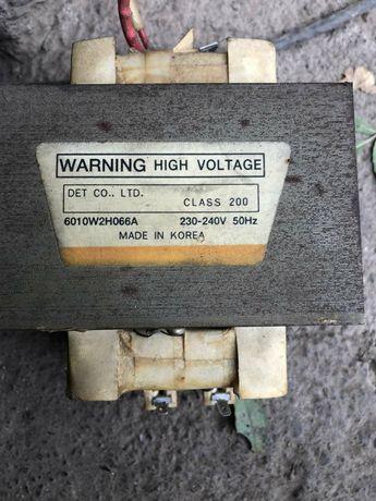 Трансформатор СВЧ WARNING 6010W2H066A 230-240V 50Hz