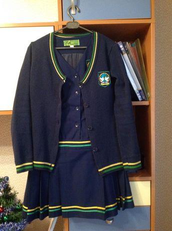 Школьная форма, сарафан, трикотажный пиджак