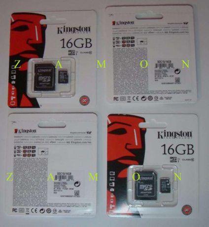 Karta Micro SDHC Kingston 16 GB class 10
