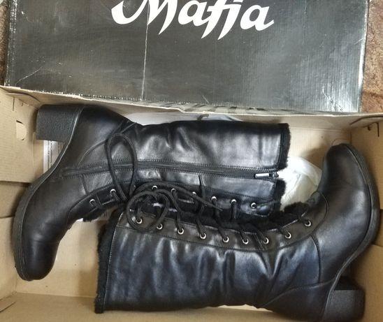 Модные зимние сапоги ботинки натуральная кожа шерсть 37.5 р