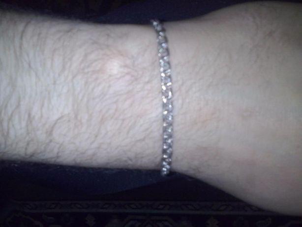 Серебряный мужской браслет.Шикарный подарок мужчине