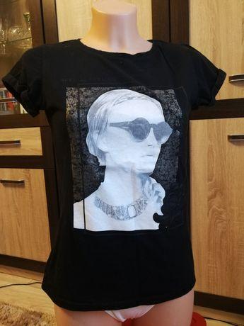 Trzy szt. koszulka bluzka 34 XS damska