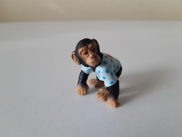 Schleich dziecko szympansa w koszulce małpa unikat wycofany 2003 r.