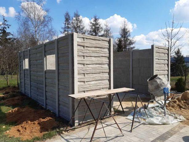 wiaty garaże z płyt betonowych