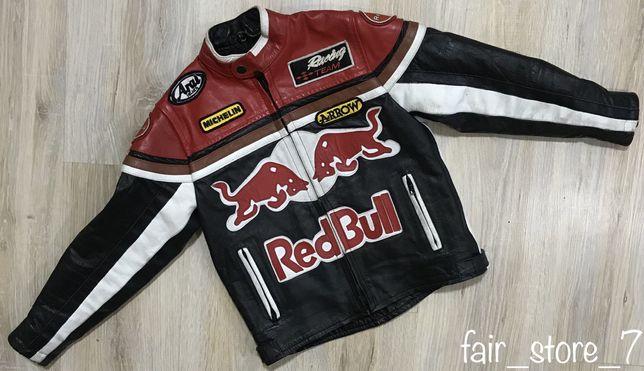 Кожаная мотокуртка Red Bull Michelin Marlboro yamaha motorcycle racing