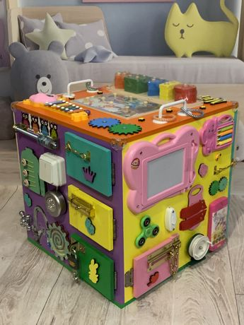 Большой БизиКуб КОСМОС Maxi куб Открываюшийся! Бізікуб подарок!