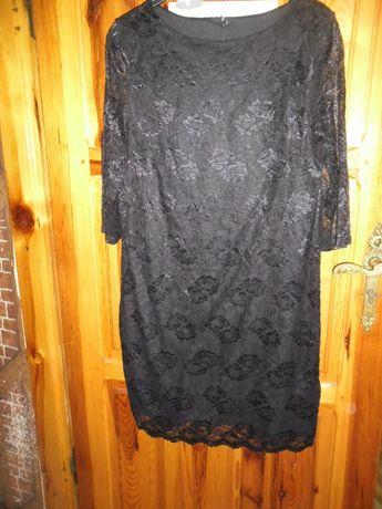 czarna nowa sukienka z koronki roz.44/46