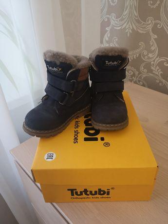 Зимние ботинки Tutubi 22р. натуральная кожа