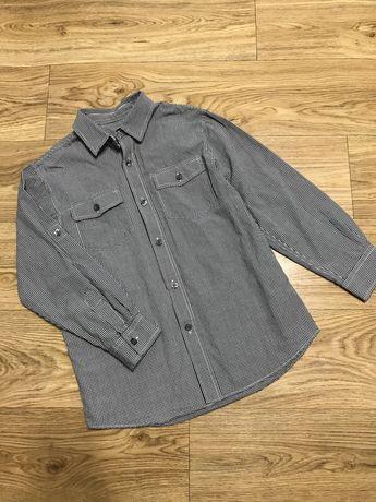 8-9 лет рубашка в клетку с длинным рукавом на мальчика 8-9 лет