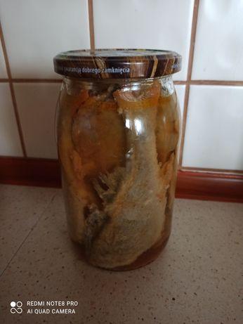 Ryba Okoń w zalewie octowej z cebulka  oraz aromatem paprykowym