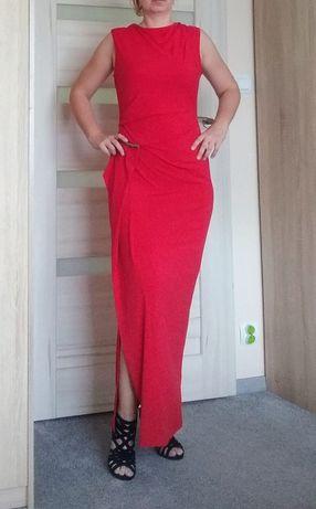 Czerwona maxi sukienka S/M