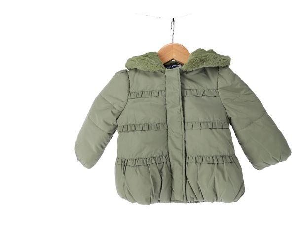 Ciepła, ciemnozielona kurteczka dla dziewczynki marki Original Marines