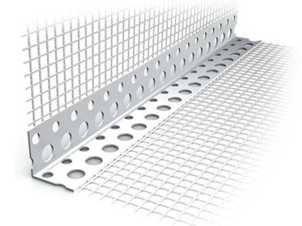 Narożniki z siatką PCV Plastikowy 2,5m Winkle Winkiel Profile Narożnik