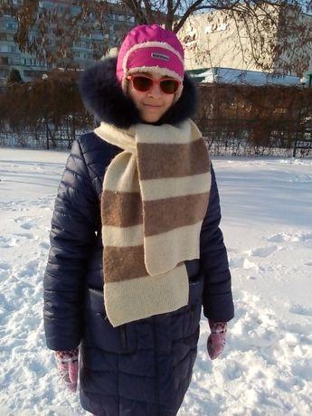 Зимнее пальто с капюшоном для девочки рост 164