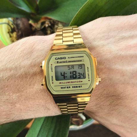 Наручные часы Casio Illuminator золотые retro vintage