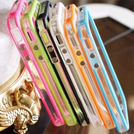 Obudowa case do iPhone 5s ramka gumowa zielona