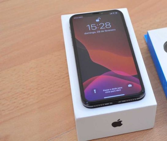iPhone X Preto - Excelente estado na caixa original